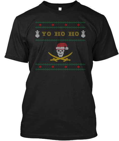 Yo Ho Ho Black T-Shirt Front
