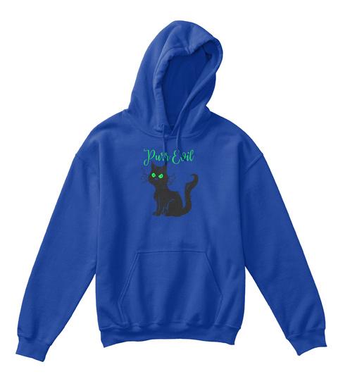 Purr Evil Black Cat Halloween Royal T-Shirt Front