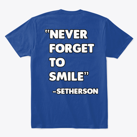 "Setherson ""Howdy Pals"" Merch Deep Royal T-Shirt Back"