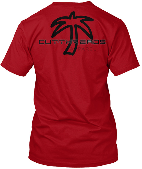 Cot Threads Palm Tree  Deep Red T-Shirt Back
