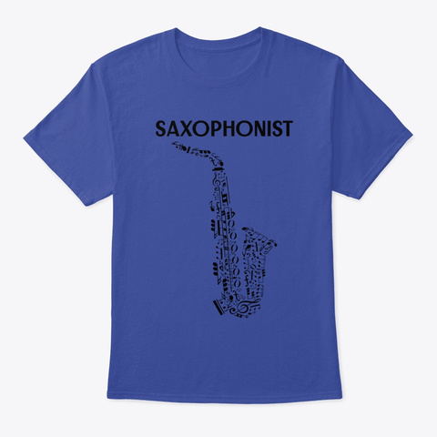 Saxophonist Deep Royal Maglietta Front