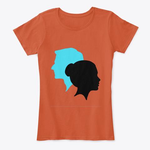 Retro Deep Orange T-Shirt Front
