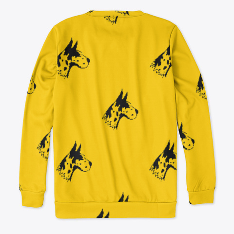 Yellow Great Dane Pattern Sweatshirt Standard T-Shirt Back