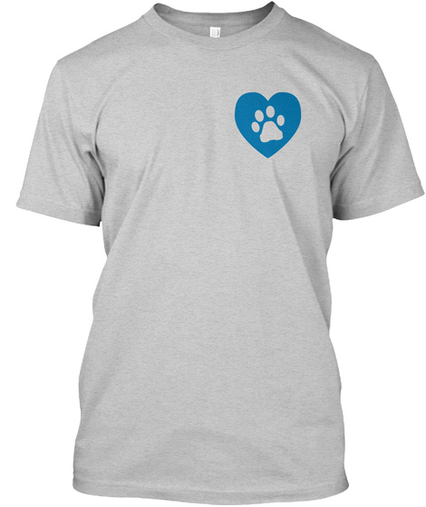 Paws For Panthers Featured Shirts Light Steel T-Shirt Front