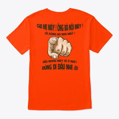Áo Thun Cà Khịa Cực Chất Orange T-Shirt Back