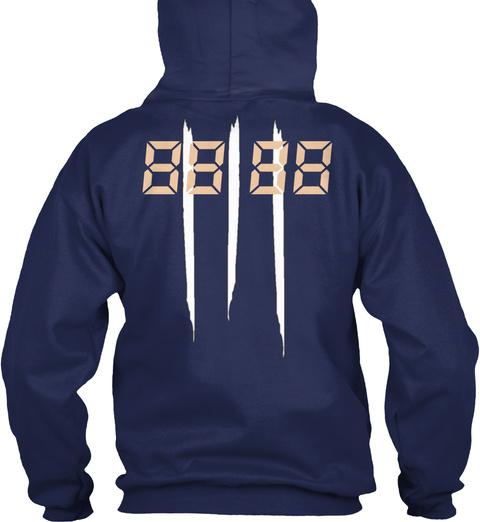 88 88 Navy T-Shirt Back