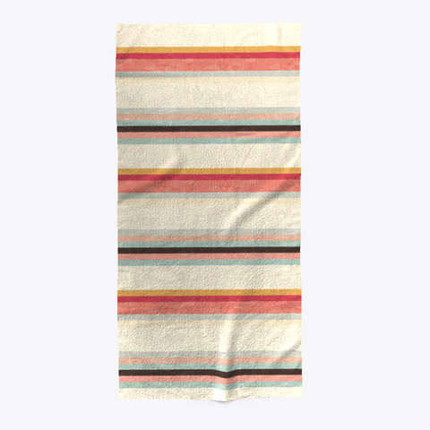 Stripe Summer Beach Towel Standard T-Shirt Front
