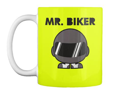 Yellow Mr. Biker Mug by Teespring.