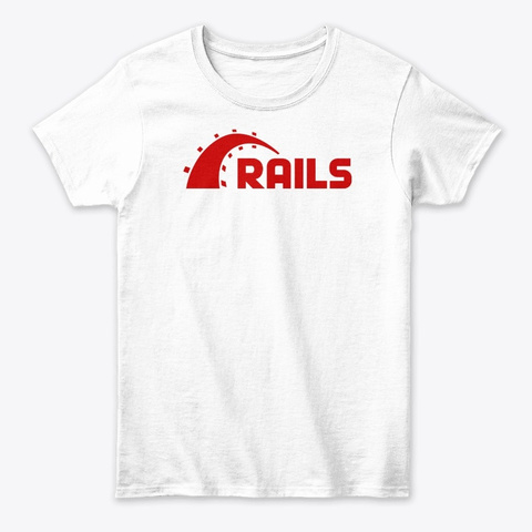 Ruby On Rails White T-Shirt Front