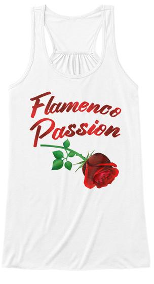 Flamenco Passion White T-Shirt Front