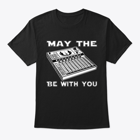 May The 4th Be With You Black T-Shirt Front