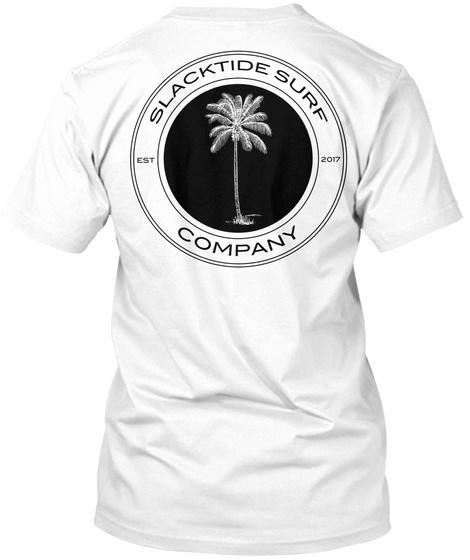 Slacktide Surf Company White T-Shirt Back