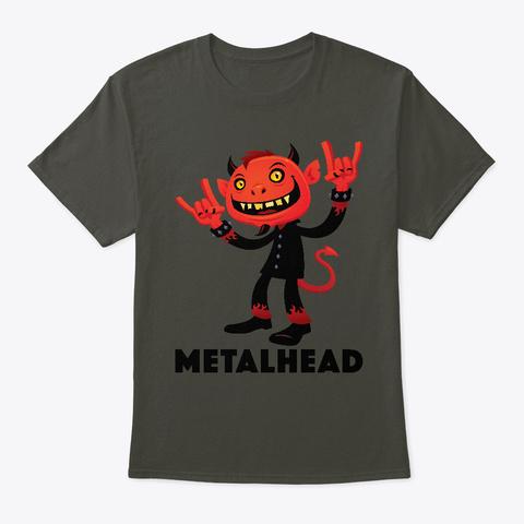 Heavy Metal Devil Metalhead Smoke Gray T-Shirt Front