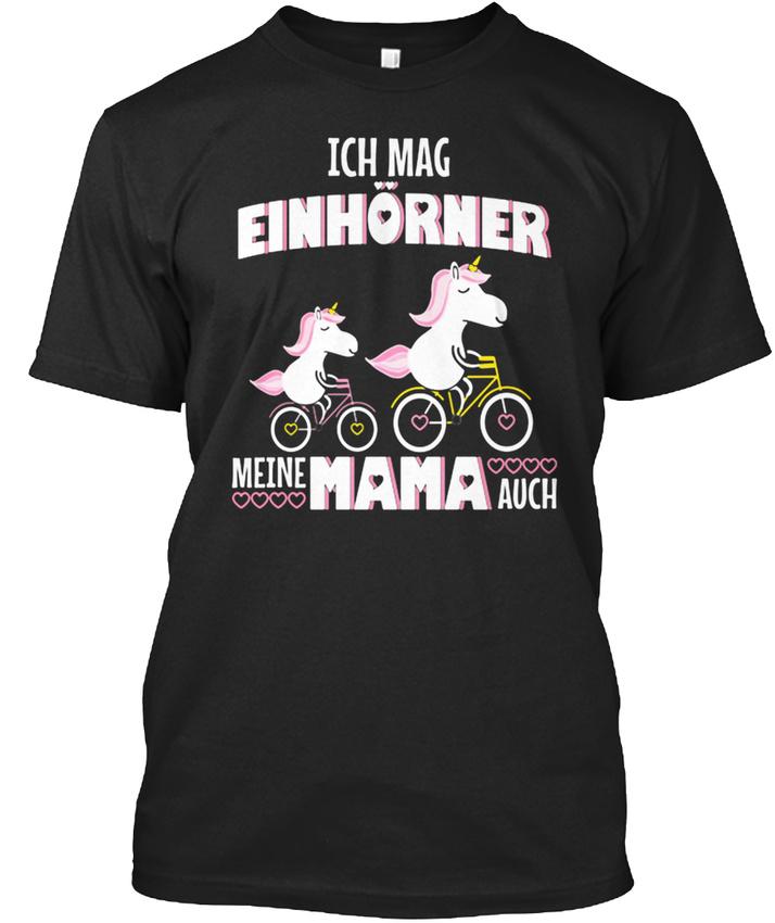 Einhorn-Ich-Und-Mama-MOgen-EinhOrner-T-shirt-Elegant