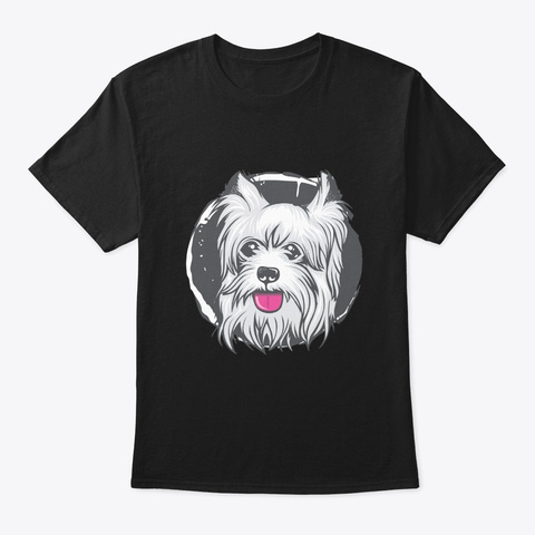 Cute Puppy Face   Awesome Puppy Lover Gi Black T-Shirt Front