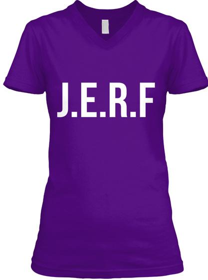 J.E.R.F Team Purple  T-Shirt Front