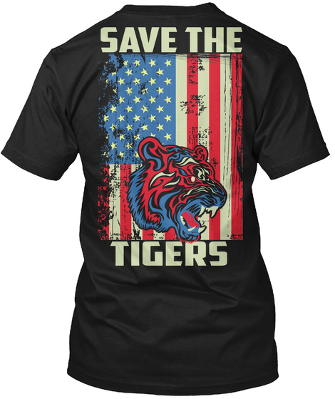 Save The Tigers Limited Editions Shirts Black T-Shirt Back