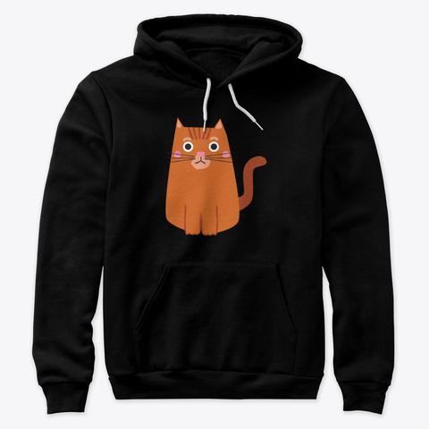 Mascotinho Miau Black T-Shirt Front
