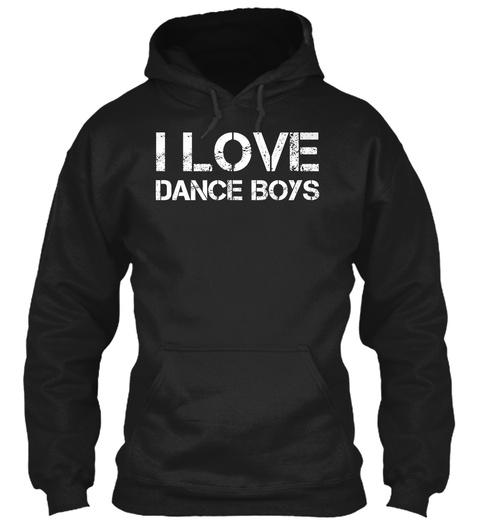 I Love Dance Boys Black T-Shirt Front