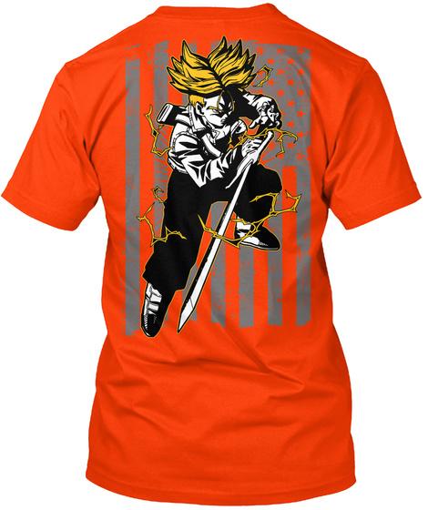Trunks Orange T-Shirt Back