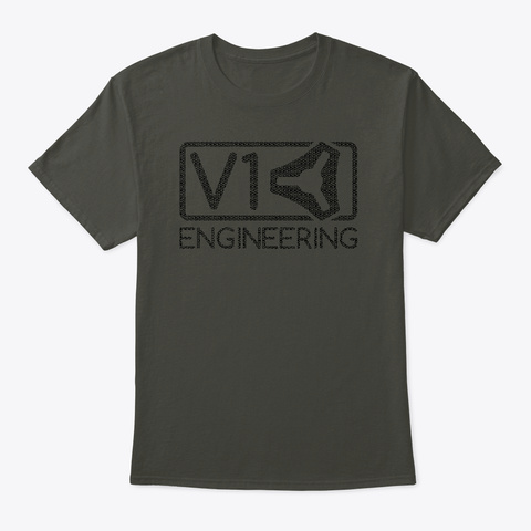 Logo Of Logos   V1 Engineering   Dark Smoke Gray T-Shirt Front
