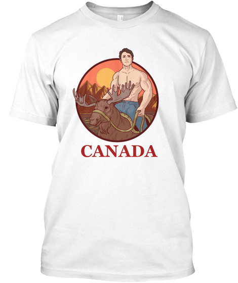 Canada White T-Shirt Front