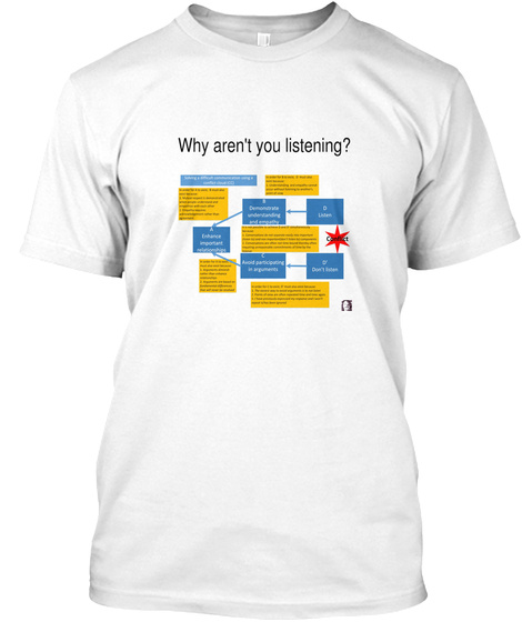 Why Aren't You Listening? White T-Shirt Front
