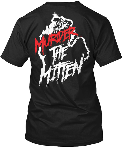 Gnar Ventures Murder The Mitten Black T-Shirt Back