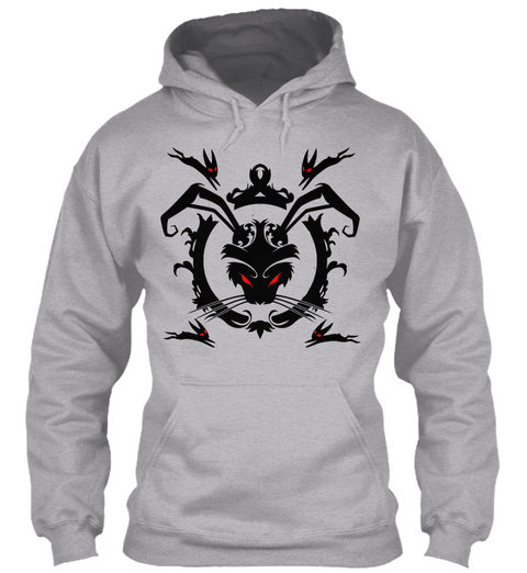 Black Rabbit Of Inlé Sport Grey T-Shirt Front