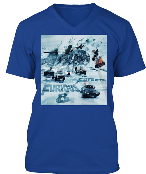 Awesome T Shirt Design F8 True Royal T-Shirt Front