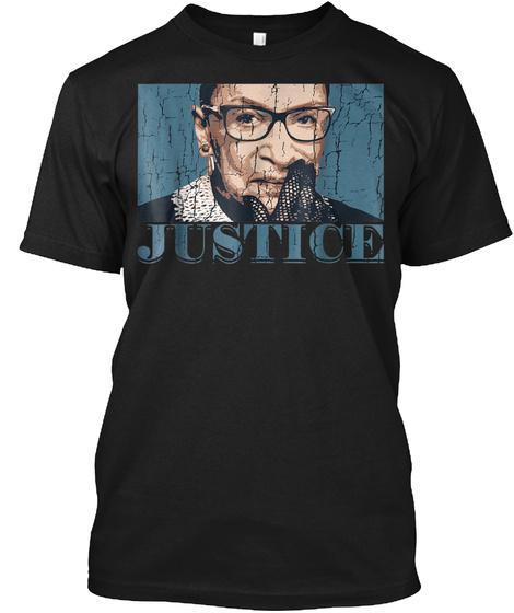 Justice Ruth Bader Ginsburg Shirt Black T-Shirt Front