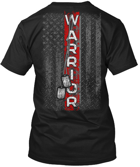 Warriors Black T-Shirt Back