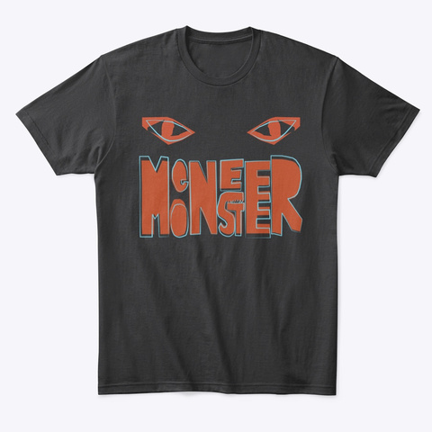 T Shirt Meneer Monster Black T-Shirt Front