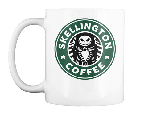 Skellington Coffee Mug White T-Shirt Front