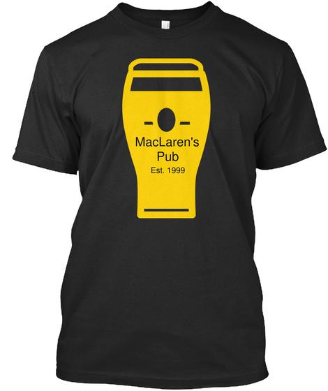Mac Laren's Pub Est. 1999 Black T-Shirt Front
