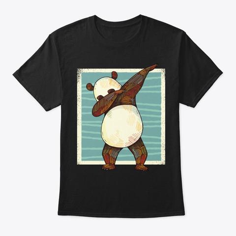 Cool Dab Bear Dabbing Panda Gifts Black T-Shirt Front