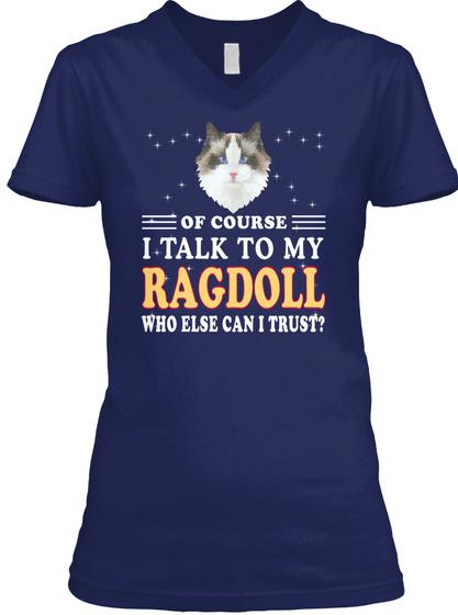 Ragdoll Breed Lover Navy T-Shirt Front