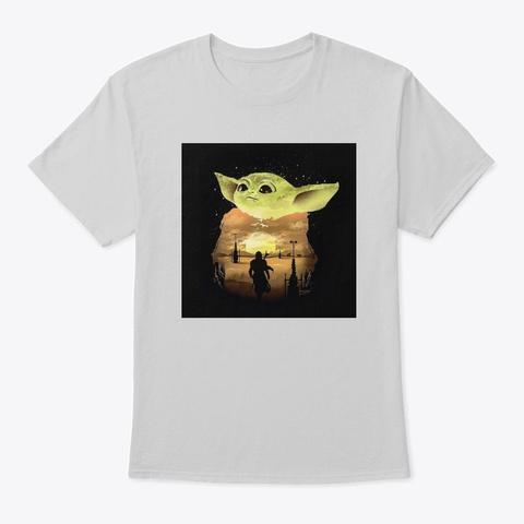 Classic Art Work Light Steel T-Shirt Front