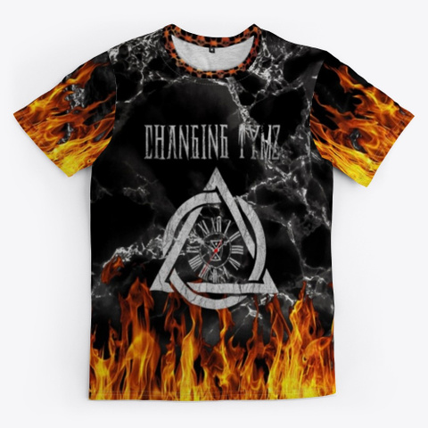 Changing Tymz Custom Graphic T Shirt #2 Black T-Shirt Front