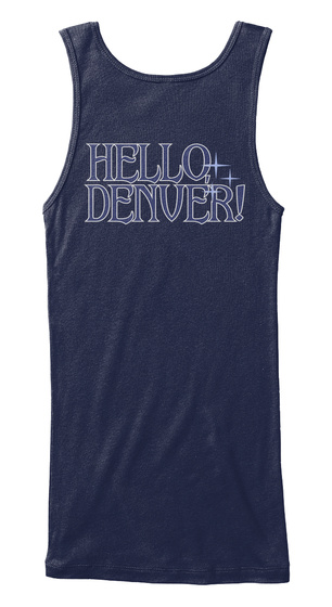 Hello Denver Navy Women's Tank Top Back
