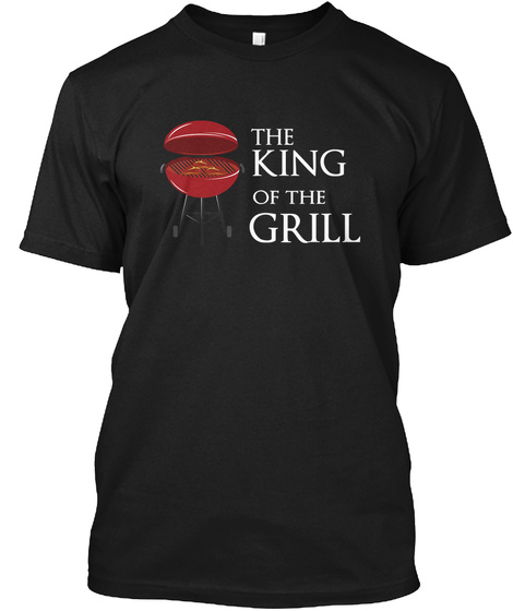 The King Of The Grill Black T-Shirt Front