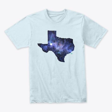 Galaxy Texas Heart Over Midland Odessa Light Blue T-Shirt Front