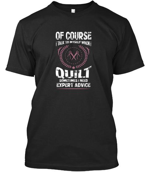 Quilting T Shirt Black T-Shirt Front