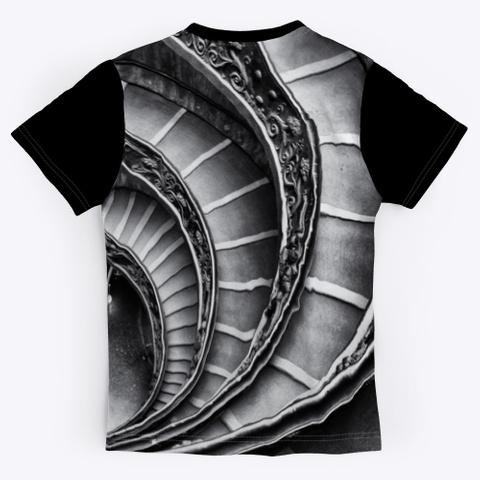 T Shirt: Stairways Black T-Shirt Back