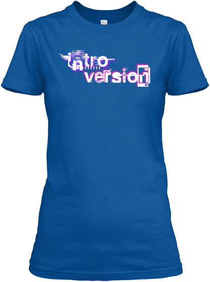 Intro Version Royal T-Shirt Front