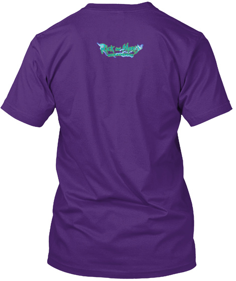 It's Pixel Rick!!   Apparel Purple T-Shirt Back