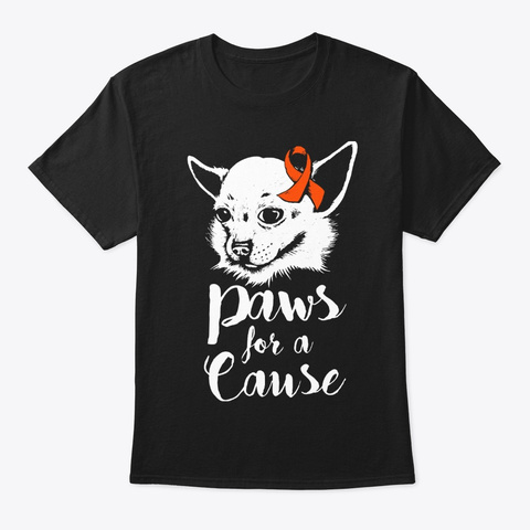 Paws For A Cause Crps Awareness Support Black T-Shirt Front