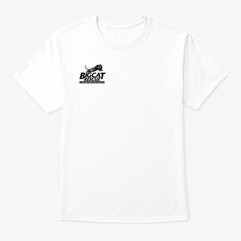 Big Cat Rescue Tiger Lake Logo White T-Shirt Front