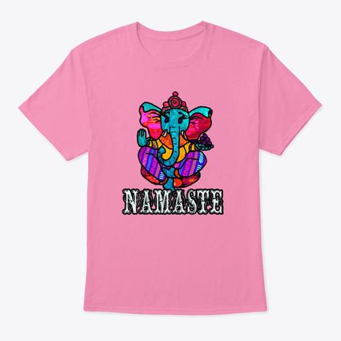 Namaste Ganesh  Pink T-Shirt Front