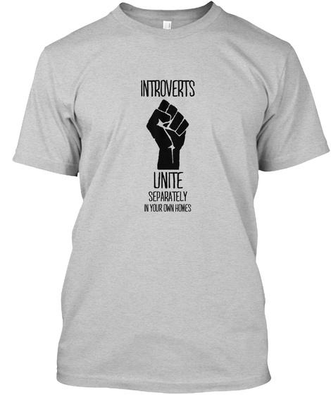 Introverts Light Steel Camiseta Front